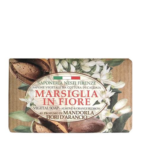 все цены на мыло Nesti Dante Нести Данте Цветущий Марсель Мыло туалетное Миндаль и Цветы апельсина (плитка 125 г) онлайн