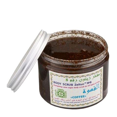 скраб Zeitun Зейтун Скраб сахарный бодрящий №8 Кофе (Банка 500 мл)