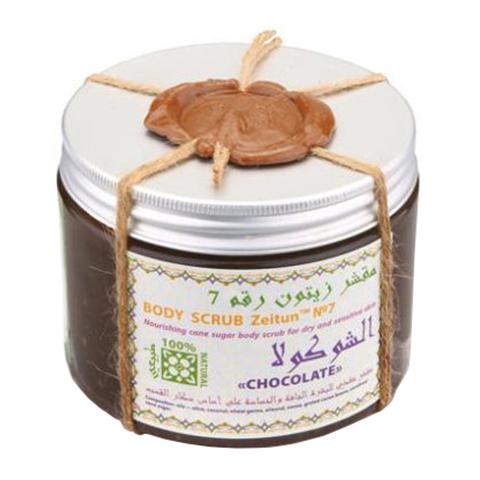 скраб Zeitun Зейтун Скраб сахарный питательный №7 Шоколад (Банка 500 мл)