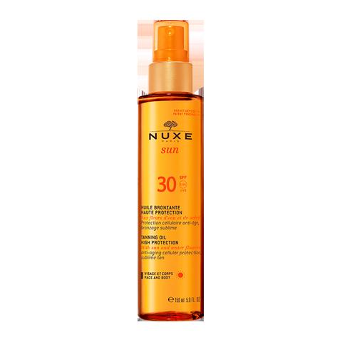Нюкс Сан Масло тонирующее для лица и тела с высокой степенью защиты SPF 30 (Флакон с дозатором 150 мл) (Nuxe)