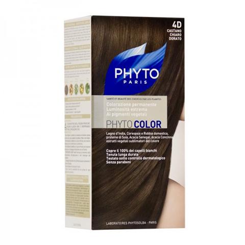 Фито Фитоколор Краска для волос (Набор, 4D Светлый золотистый шатен)Окрашивание волос<br>Фитоколор – первая стойкая краска, сочетающая высокие технологии и глубокое знание растений, бережно относящаяся к волосам и чувствительной коже головы. Краска содержит от 57% до 61% красящих пигментов (индиго, бразильское дерево, кореопсис, дрок), издревле применяемых в качестве натуральных красителей, а также эфирное масло сладкого апельсина, обеспечивающее глубокое питание волосяного стержня. Благодаря инновационной идее, совместившей в себе высокие технологии и познания в области растений, в свет вышла краска PHYTO COLOR. Это краска, которая: - закрашивает 100% седых волос с первого же окрашивания; - обеспечивает высокую устойчивость вашего цвета; -щадит здоровье кожи головы и волос.<br>СРЕДСТВО ДЛЯ УХОДА ПОСЛЕ ОКРАШИВАНИЯ обогащено эфирным маслом сладкого апельсина и содержит солнцезащитный фильтр. Это средство питает волосяной стержень и придает ему естественный яркий цвет. Кремообразная нежно парфюмированная краска PHYTO COLOR равномерно и легко распределяется по волосам. Практически не содержит аммиака, обладает приятным ароматом и обеспечивает волосам исключительный блеск. Содержит UV- фильтр.<br>Состав набора:<br>1 флакон с проявляющим молочком - 60 мл<br>1 туба с окрашивающим кремом - 40 мл<br>1 саше с защитным средством - 25 мл<br>Защитные перчатки - 1 пара<br>Инструкция<br>??Блонд<br>??<br>Шатен<br><br>Брюнет<br><br><br>Таблица поподбору цвета:<br><br>Цвет: 4D Светлый золотистый шатен<br>Тип кожи: всех типов, чувствительной