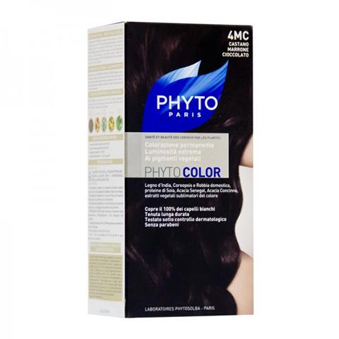 Фито Фитоколор Краска для волос (Набор, 4MC Шатен Каштановый шоколад)Окрашивание волос<br>Фитоколор – первая стойкая краска, сочетающая высокие технологии и глубокое знание растений, бережно относящаяся к волосам и чувствительной коже головы. Краска содержит от 57% до 61% красящих пигментов (индиго, бразильское дерево, кореопсис, дрок), издревле применяемых в качестве натуральных красителей, а также эфирное масло сладкого апельсина, обеспечивающее глубокое питание волосяного стержня. Благодаря инновационной идее, совместившей в себе высокие технологии и познания в области растений, в свет вышла краска PHYTO COLOR. Это краска, которая: - закрашивает 100% седых волос с первого же окрашивания; - обеспечивает высокую устойчивость вашего цвета; -щадит здоровье кожи головы и волос.<br>СРЕДСТВО ДЛЯ УХОДА ПОСЛЕ ОКРАШИВАНИЯ обогащено эфирным маслом сладкого апельсина и содержит солнцезащитный фильтр. Это средство питает волосяной стержень и придает ему естественный яркий цвет. Кремообразная нежно парфюмированная краска PHYTO COLOR равномерно и легко распределяется по волосам. Практически не содержит аммиака, обладает приятным ароматом и обеспечивает волосам исключительный блеск. Содержит UV- фильтр.<br>Состав набора:<br>1 флакон с проявляющим молочком - 60 мл<br>1 туба с окрашивающим кремом - 40 мл<br>1 саше с защитным средством - 25 мл<br>Защитные перчатки - 1 пара<br>Инструкция<br>??Блонд<br>??<br>Шатен<br><br>Брюнет<br><br><br>Таблица поподбору цвета:<br><br>Цвет: 4MC Шатен Каштановый шоколад<br>Тип кожи: всех типов, чувствительной