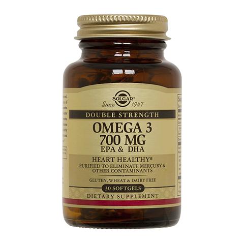 Солгар Двойная Омега-3 700 мг ЭПК и ДГК (30 капсул) (Solgar)