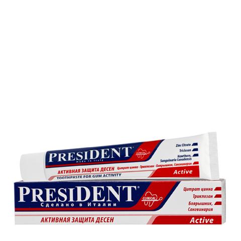 зубная паста PresiDENT PresiDENT Зубная паста Active (Туба 50 мл) пленка тонировочная president 5% 0 5м х 3м