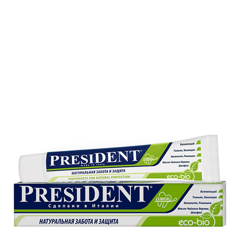 зубная паста PresiDENT PresiDENT Зубная паста Eco-bio (Туба 50 мл) лакалют зубная паста актив хербал 50 мл