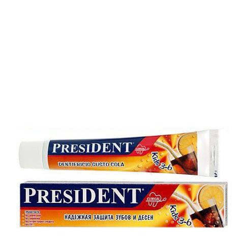 зубная паста PresiDENT PresiDENT Kids Зубная паста 3-6 кола (Туба 50 мл) пленка тонировочная president 5% 0 5м х 3м