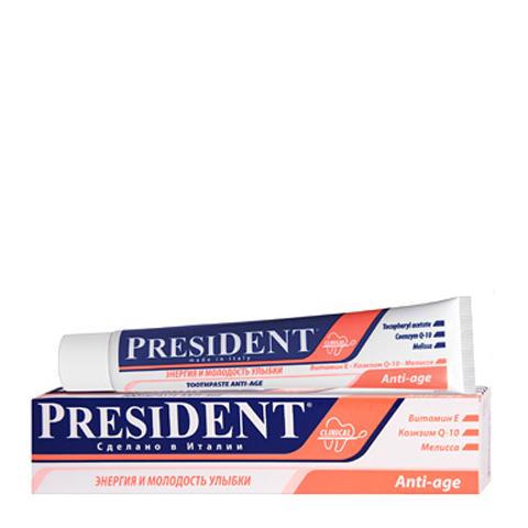 зубная паста PresiDENT PresiDENT Зубная паста Anti-age (Туба 50 мл) лакалют зубная паста актив хербал 50 мл