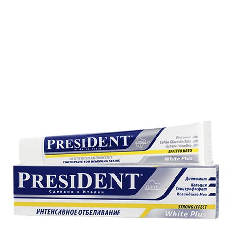 зубная паста PresiDENT PresiDENT Зубная паста White Plus отбеливающая (Туба 30 мл) пленка тонировочная president 5% 0 5м х 3м