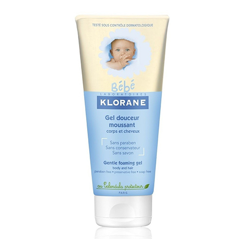Клоран Бебе Гель пенящийся мягкий для волос и тела   (Туба 200 мл) (Klorane)