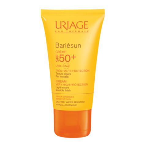 Урьяж Барьесан Крем солнцезащитный SPF50+ (Туба 50 мл)Солнцезащитные средства<br>Обогащенный термальной водой Урьяж, крем обеспечивает очень высокую защиту от UVA и UVB лучей, свободных радикалов и предохраняет кожу от обезвоживания, вызванного пребыванием на солнце. Легкая нежирная текстура с приятным ароматом приносит удовольствие при применении.<br>Формула с очень высокими защитными свойствами, фотостабильна, не содержит парабенов.<br><br>Объем мл: 50<br>Тип кожи: всех типов, чувствительной