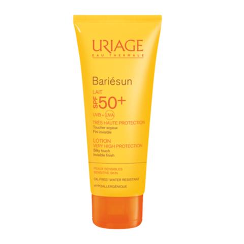 Урьяж Барьесан Молочко солнцезащитное SPF50+ (Туба 100 мл)Солнцезащитные средства<br>Обогащенное термальной водой Урьяж, молочко обеспечивает очень высокую защиту от UVA и UVB лучей, свободных радикалов и предохраняет кожу от обезвоживания, вызванного пребыванием на солнце. Легкая нежирная текстура с приятным ароматом приносит удовольствие при применении.<br>Формула с очень высокими защитными свойствами, фотостабильна, не содержит парабенов.<br><br>Объем мл: 100<br>Тип кожи: нормальной, чувствительной