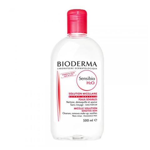 Биодерма Сенсибио H2O Вода очищающая (Флакон 500 мл) (Bioderma)