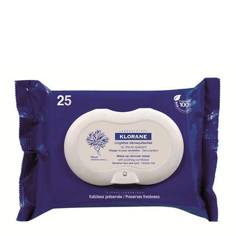 Клоран Салфетки для снятия макияжа с экстрактом василька 25 шт (Упаковка 25 шт) (Klorane)