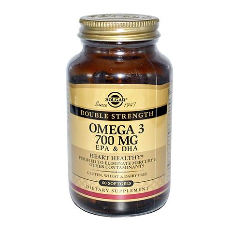 Солгар Двойная Омега-3 700 мг ЭПК и ДГК (Банка 60 капсул) (Solgar)