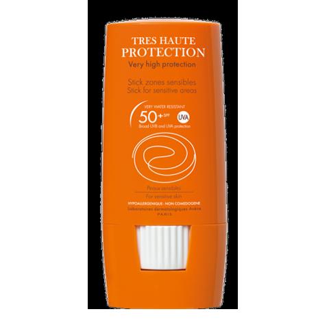 Авен Стик солнцезащитный для чувствительных зон SPF 50+ (Стик 8 г)Солнцезащитные средства<br>Обогащенный успокаивающими компонентами, солнцезащитный стик SPF 50 хорошо переносится даже очень хрупкой кожей.<br>Средство в удобной упаковке быстро и легко наносится на кожу, не оставляя пятен на одежде и обеспечивает максимально эффективную защиту от солнца.<br>Стик SPF 50+ предназначен, в первую очередь, для гиперчувствительной и очень светлой кожи, встречающейся у блондинов или рыжеволосых, а также для защиты от активного солнца. Устойчив к воздействию воды и пота.<br>Содержит запатентованный комплекс UV-фильтров (защита от лучей UVB И UVA), пре-токоферил и термальную воду Авен, обеспечивающие защиту от свободных радикалов.<br><br>Тип кожи: чувствительной