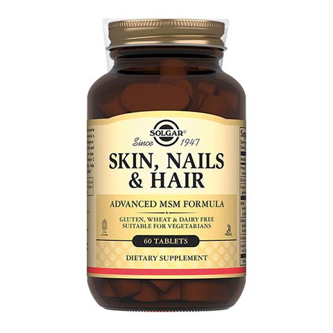 добавка пищевая Solgar Солгар Таблетки для кожи, волос и ногтей (60 таблеток) экстракт грибов рейши шиитаке и мейтаке solgar 50 капсул