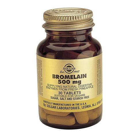 добавка пищевая Solgar Солгар Бромелайн 500 мг (30 таблеток) solgar витамин с 500 с малиновым вкусом 90 таблеток витамины