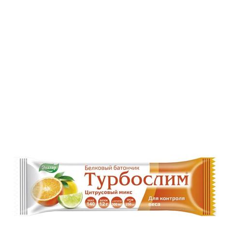добавка пищевая Турбослим Турбослим Батончик белковый Цитрусовый микс (50 г) добавка пищевая турбослим турбослим батончик для похудения белковый 4 штуки по 50 г