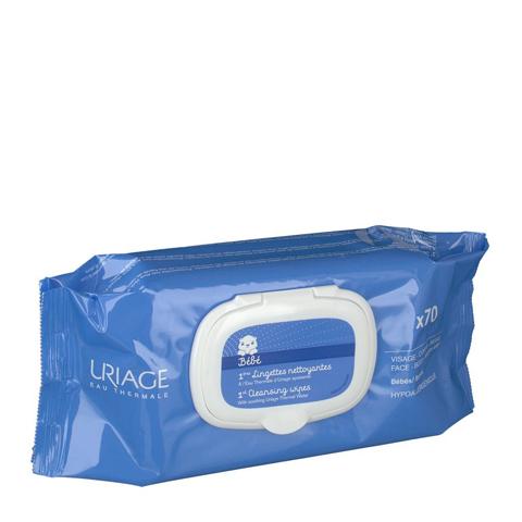 салфетки Uriage Урьяж Первые Салфетки очищающие  (Упаковка 70 шт) uriage урьяж салфетки с очищающей мицеллярной водой 25 штук 25 штук