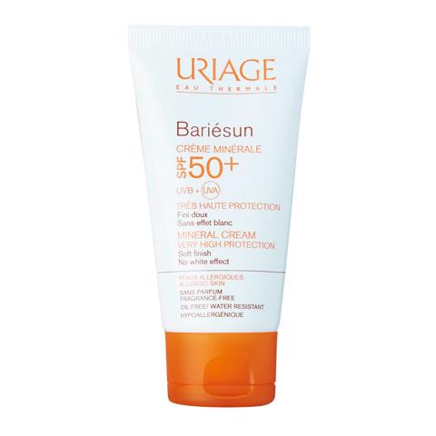 крем Uriage Урьяж Барьесан Крем минеральный SPF50+ (Туба 50 мл) крем uriage bariederm insulating repairing hand cream 50 мл