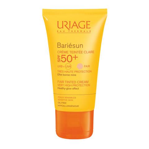 крем тональный Uriage Урьяж Барьесан Крем солнцезащитный тональный светлый SPF50+ (Туба 50 мл, светлый) uriage урьяж набор подарочный термальная вода и крем для рук 2 средства