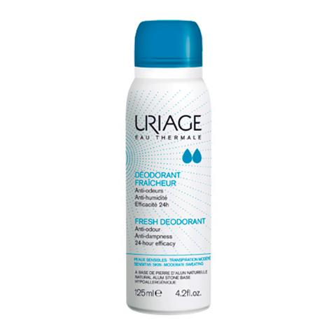 Урьяж Дезодорант-спрей с квасцовым камнем  (Спрей 125 мл)Дезодоранты<br>Уникальный дезодорант-спрейУряж,разработанныйна основеквасцов, надежно защититвас от запахапота.<br>Основные свойствадезодоранта-спрея:<br>Впитывает влагу<br>Делает вашу кожу мягкой и нежной<br>Препятствует появлению раздражений<br>Сокращает рост бактерий<br>Устраняет неприятный запах<br>?Не содержит солей алюминия, спирта и парабенов<br><br>Объем мл: 125<br>Тип кожи: всех типов, чувствительной