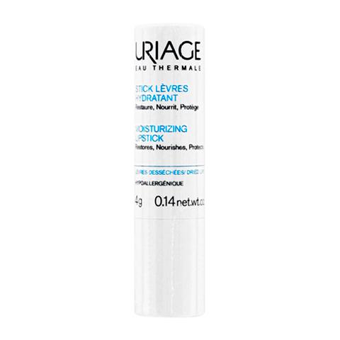 Урьяж Стик увлажняющий, защитный и восстанавливающий для губ  (Стик 4.5 г)Универсальные средства<br>Uriage Stick Levres Hydratant (Урьяж Стик увлажняющий, защитный и восстанавливающий для губ) для кожи всех типов.<br>Стик для губ Урьяж интенсивно увлажняет и питает кожу губ, обеспечивает защиту от свободных радикалов и восстановление поврежденных участков эпидермиса. Благодаря нежной кремовой текстуре и удобной форме выпуска средство легко наносится на губы, дарит ощущение комфорта. За счет плотной структуры стик не крошится и не ломается.<br>Активные компоненты:<br>Масло огуречника обладает заживляющим и омолаживающим действием благодаря высокому содержанию мононенасыщенных и насыщенных жирных кислот.<br>Масло ши обеспечивает защиту кожи, активирует регенерацию клеток и синтез коллагена, является природным УФ-фильтром.<br>Витамины С и Е питают и увлажняют кожу губ.<br><br>Тип кожи: всех типов, сухой
