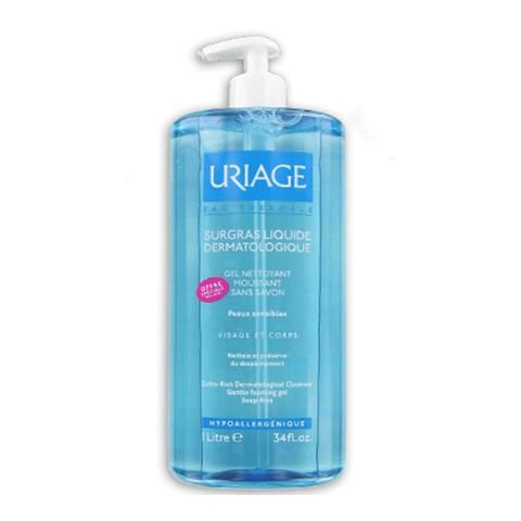 Урьяж Гель Обогащенный дерматологический для лица и тела (Флакон 1л) (Uriage)