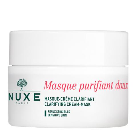 маска Nuxe Нюкс Крем-маска нежная очищающая с лепестками роз (Банка 50 мл) nuxe нюкс сан крем для лица с высокой степенью защиты spf 50 туба 50 мл