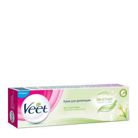 крем Veet Veet Крем для депиляции для сухой кожи, масло ши и аромат лилии  (Туба 100 мл) косметика для мамы veet крем для депиляции чувствительной кожи 100 мл