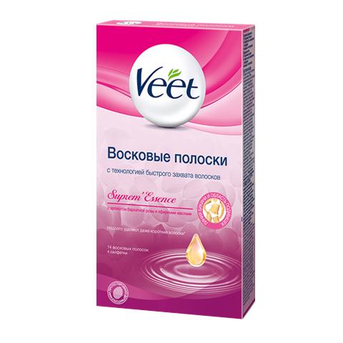 воск Veet Veet Supreme Essence восковые полоски с ароматом розы и эфирными маслами, бикини и область подмышек (14 шт) недорого