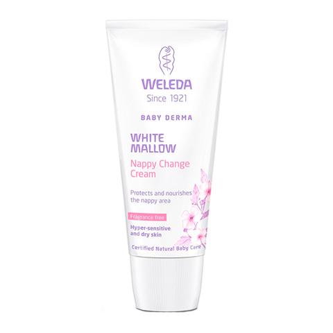 Веледа Алтей Крем для гиперчувствительной кожи в области пеленания (Туба 50 мл)Для детей<br>Weleda Weisse Malve Babycreme (Веледа Алтей Крем для гиперчувствительной кожи в области пеленания) для сухой, чувствительной, атопичной кожи. <br>Чтобы защитить чувствительную кожу малыша в области подгузника, используйте крем Weleda Weisse Malve Babycreme. Средство содержит только безопасные натуральные компоненты, которые мягко восстанавливают эпидермис, снимают воспаление, устраняют повышенную реактивность, восстанавливают липидный барьер и предотвращают появление опрелостей. Экстракт алтея активизирует собственные защитные функции нежной кожи малыша и помогает ей удерживать влагу. Чтобы избежать раздражающего действия, Веледа Baby Derma Крем для гиперчувствительной кожи в области пеленания с алтеем не парфюмируется. Едва уловимый аромат дает сочетание пчелиного воска и кокосового масла. Высокое качество и безопасность продукта подтверждены сертификатом NaTrue.<br>Активные компоненты: <br>экстракт корня алтея создает на коже защитный слой, который помогает удерживать влагу и усиливает сопротивляемость внешним агрессиям; <br>миндальное, кунжутное и кокосовое масла устраняют дискомфорт, снимают воспаление, питают, увлажняют, разглаживают и успокаивают кожу; <br>ланолин и глицерин защищают, увлажняют; <br>пчелиные воск и оксид цинка предотвращают появление опрелостей, защищают кожу от раздражающего действия влаги; <br>масло семян бораго, подсолнечника и экстракт фиалки поддерживают защитные функции кожи, смягчают. <br>Без консервантов.<br><br>Объем мл: 50<br>Тип кожи: атопичной, сухой