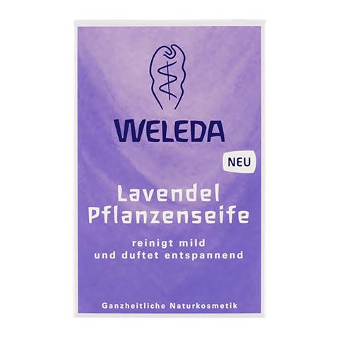 Веледа Лаванда Мыло растительное (Плитка 100 г)Уход за лицом<br>Weleda Lavendel Pflanzenseife (Веледа Лаванда Мыло растительное) для всех типов кожи, в том числе чувствительной. <br>Бережное очищение чувствительной кожи любого типа подарит мыло Weleda Lavendel Pflanzenseife. Обогащенное ценными растительными маслами и экстрактами мыло увлажняет и питает кожу, защищает ее от воздействия внешних агрессий, предотвращает появление воспаления, смягчает. Кожа рук, лица или тела не раздражается и прекрасно переносит водные процедуры. Натуральные эфирные масла, которые входят в состав Мыла лавандового Веледа, оставляют на коже нежный аромат. Использование мыла дарит приятные ощущения и помогает расслабиться перед сном. Качество и безопасность продукта подтверждены сертификатом NaTrue.<br>Активные компоненты: <br>моющая основа, полученная из пальмового, кокосового и оливкового масел нежно очищает кожу, не нарушая ее естественный защитный слой; <br>экстракты корня ириса и риса посевного эффективно регулируют уровень увлажненности эпидермиса; <br>экстракты  цветков ромашки и трехцветной фиалки успокаивают, смягчают и защищают; <br>экстракт солода обновляет кожу, ускоряет обменные процессы в клетках; <br>глицерин увлажняет, защищает и смягчает кожу. <br>Не содержит консерванты.<br><br>Тип кожи: всех типов, чувствительной