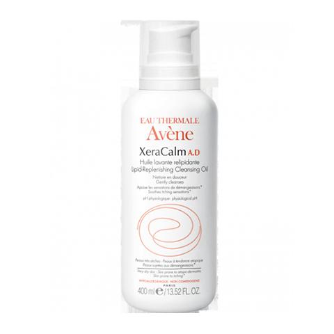 Авен КсераКальм A.D Масло Очищающее липидовосполняющее (Флакон с помпой 400 мл)
