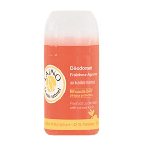 Лено Дезодорант освежающий Цитрус (Флакон 50 мл)Дезодоранты<br>Дезодорант содержит каолин, порошок минерального происхождения, который эффективно поглощает влагу. Триклозан обладает антибактериальным эффектом. Эффективен в течении 24 часов. Обладает приятным цитрусовым ароматом.<br><br>Объем мл: 50<br>Тип кожи: всех типов