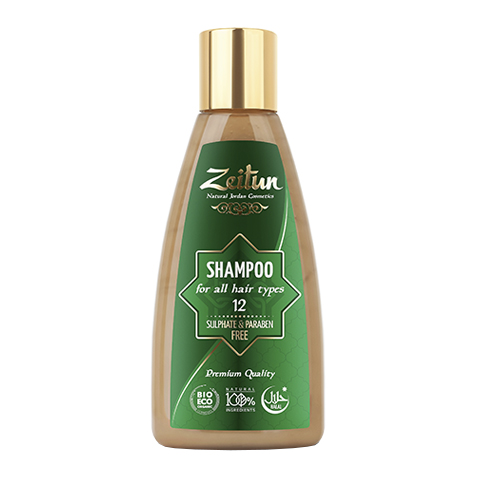 шампунь Zeitun Зейтун Шампунь алеппский №12 для всех типов волос (Флакон 150 мл)