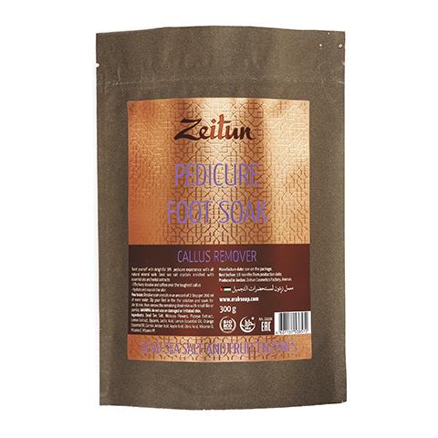 соль Zeitun Зейтун Солевая ванна-пилинг для ног Против натоптышей с минералами  (упаковка 300 г) косметические наборы для ухода зейтун подарочный набор spa педикюр соль против натоптышей баттер крем дезодорант для ног
