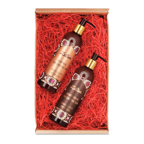 набор Zeitun Зейтун Набор подарочный Роза и мелисса (2 средства) (Набор) alparaisa набор из 2 блюд в форме розы 00003l 2 st алая роза