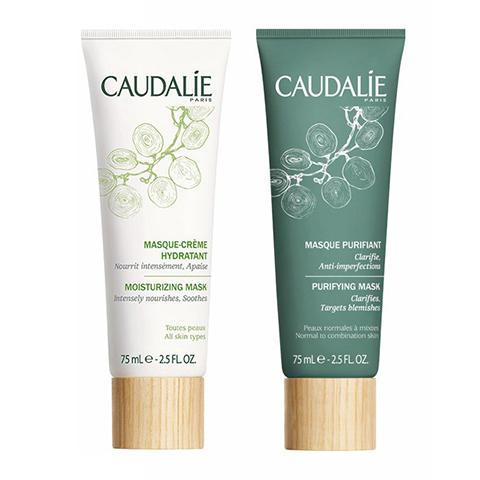 Кодали Набор для увлажнения и очищения (2 средства)Идеи подарка<br>Кодали Набор для увлажнения и очищения (2 средства) (Caudalie Duo ?quilibrant<br>Masques visage pour peaux mixtes) для смешанной кожи.<br>Комбинированная кожа нуждается в увлажнении, особенноесли кожа лица подвергаетсявоздействиювнешних раздражителей, например солнца или кондиционера.<br>Для идеального эффекта нанесите маски одновременно, как указано на схеме: Увлажняющую маску-крем на сухие зоны лица для обретения ими комфортного ощущения увлажнения и защиты, а Очищающую маску – на Т-зону, чтобы убрать излишки себума и придать коже матовость.<br><br>Используйте 2 раза в неделю, нанесите на сухую кожу, избегая контура глаз, подержите 10 минут, смойте теплой водой.<br><br>Тип кожи: всех типов, комбинированной