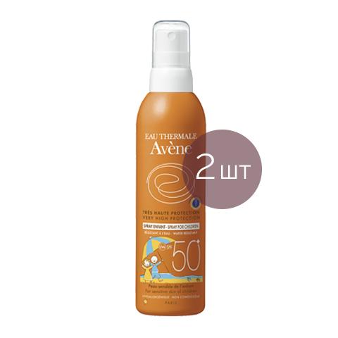 Авен Детский спрей солнцезащитный SPF 50+ (2 штуки) (Avene)
