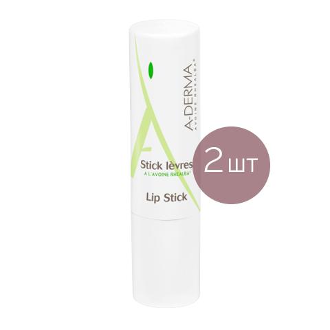 бальзам для губ A-Derma А-Дерма Бальзам для губ (2 штуки) а дерма essentials бальзам для губ 4г 2шт скидка на 2 й продукт 50