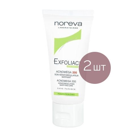 Норева Эксфолиак Акномега 200 (2 штуки)Уход за лицом<br>Норева Эксфолиак Акномега 200 (2 штуки) для жирной, проблемной кожи.<br>Эффективное очищение, качественный уход и матирование - всё, что нужно для жирной проблемной кожи в одном средстве!<br>Норева Эксфолиак Акномега 200 оказывает интенсивное отшелушивающее, антибактериальное, антисептическое и себорегулирующее действие. При регулярном использовании исчезают черные точки, воспалительные элементы, пятна постакне. Бисаболол устраняет красноту, зуд и шелушение, токоферол ускоряет заживление эпидермиса. Гликолевая и молочная кислоты выравнивают цвет лица.<br>Набор из двух средств Норева Акномега 200 - выгодноеприобретение дляуспешной борьбы за здоровую и чистую кожу!<br><br>Тип кожи: жирной, проблемной