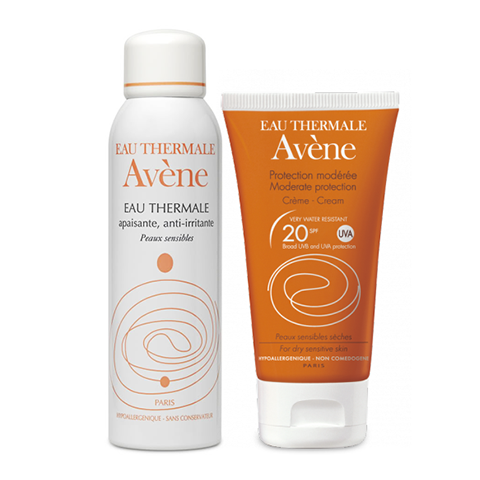 Авен Набор Крем солнцезащитный SPF20+ и Термальная вода (2 средства) (Avene)