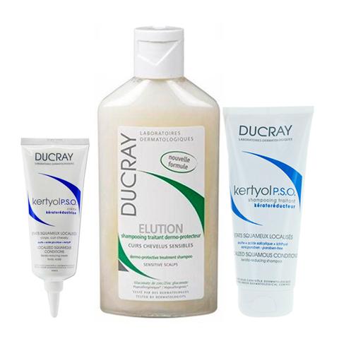Дюкрэ Набор для лечения перхоти и псориаза (3 средства) (Ducray)