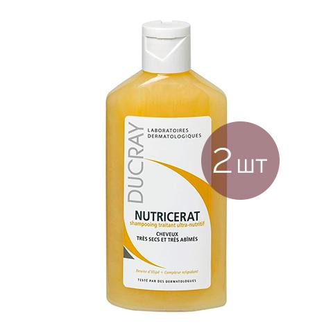 Дюкрэ Нутрицерат Шампунь сверхпитательный (2 штуки)Наборы лечебной косметики<br>Ducray Nutricerat Shampoo (Дюкрэ Нутрицерат Шампунь сверхпитательный - 2 штуки) для очень сухих волос.<br>Выгодное предложение для ухода за сухими и очень сухими волосами, которые нуждаются в особенной заботе. Шампунь Дюкрэ Нутрицетат бережно очищает волосы, восстанавливает их структуру и возвращает жизненную силу и блеск. Волосы выглядят здоровыми, легко расчесываются.<br>Активные компоненты:<br>масло Илиппе удерживает влагу, предотвращает обезвоживание, смягчает, защищает в зимний период;<br>Липидовосстанавливающий комплекс способствует регенерации волоса.<br><br>Тип кожи: сухой