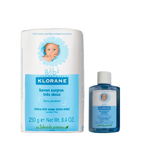 набор Klorane Клоран Бебе Набор Очищающий (2 средства) набор perfectstyle набор бритье для чувствительной кожи 2 средства