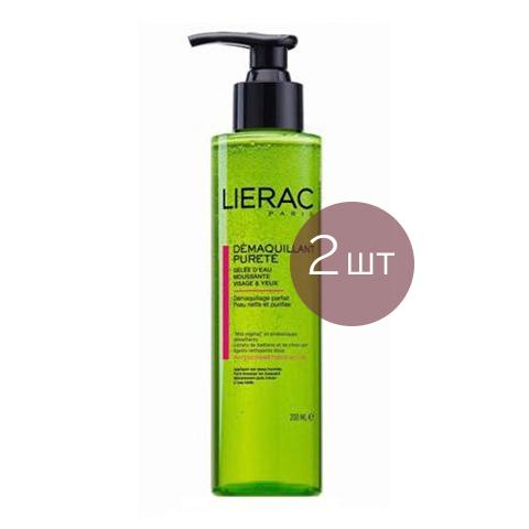 Лиерак Гель очищающий для умывания (2 штуки)Уход за лицом<br>Лиерак Гель очищающий для умывания (2 штуки) для нормальной, комбинированной и жирной кожи, в том числе чувствительной.<br>Пенящийся гель Lierac Demaquillant Purete рекомендуется для кожи жирного и смешанного типа. Подходит для очищения кожи лица и контура глаз от загрязнений, излишков себума и косметики. Прозрачный Лиерак Гельдля умывания содержит очищающие компоненты растительного происхождения на основе семян аниса, не содержит щёлочь.Активный комплекс ?coskin восстанавливает природную экосистему дермы, обеспечивает защиту от негативных факторов. Пробиотики стимулируют синтез молочной кислоты, повышая природный защитный барьер.<br>Приятный аромат лайма и жасмина бодрит и заряжает энергией.<br><br>Тип кожи: жирной, комбинированной, нормальной
