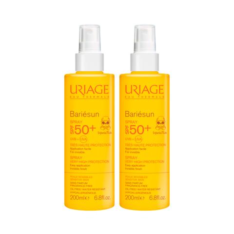 Урьяж Барьесан Спрей солнцезащитный для детей SPF50+ (2 штуки) (Uriage)