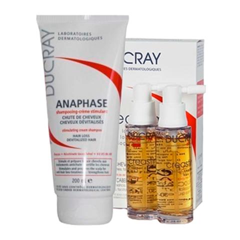 Дюкрэ Набор Креастим Лосьон + Анафаз Шампунь для лечения выпадения волос (2 средства)