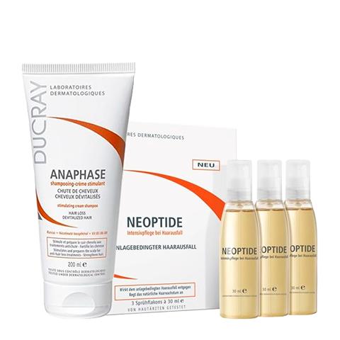Дюкрэ Набор Неоптид Лосьон + Анафаз Шампунь для лечения хронического выпадения волос (2 средства)